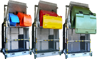industrial heavy duty bin lifter bin tipper